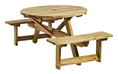 Cambridge Round 4 Person Picnic Table Set