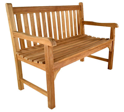 Clifton Two Person Teak Outdoor Bench