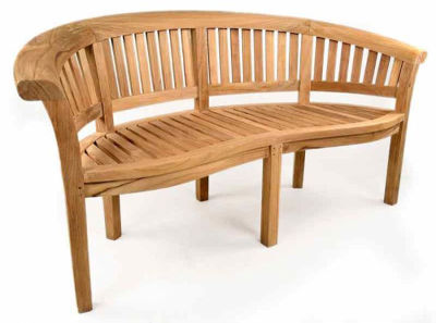 Shenley 3 Seater Rounded Back Outdoor Teak Bench