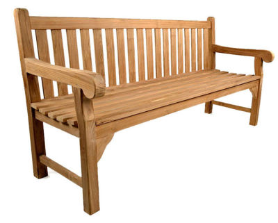 Chalton 6 Person Outdoor Teak Bench