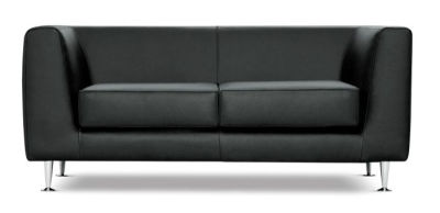 Square Antibacterial Vinyl 2 Seater Sofa