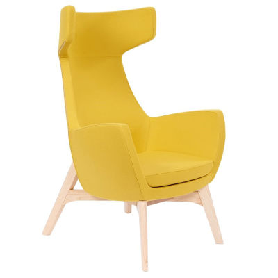 Oregon Wooden-framed Yellow Antibacterial Upholstered Chair