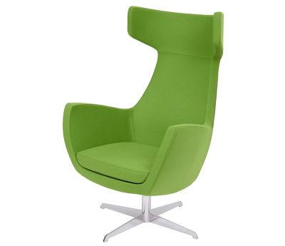 Oregon Green Antibacterial Swivel Chair With 4-star Metal Base