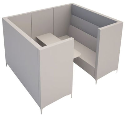 Convex Antibacterial 6 Person Seater Station