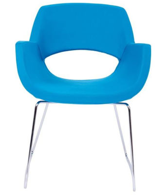 Shade Blue Sled Frame Chair