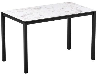 4-leg White Marble Rectangular Dining Table