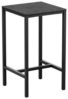 4-leg Metallic Anthracite Square Poseur Table