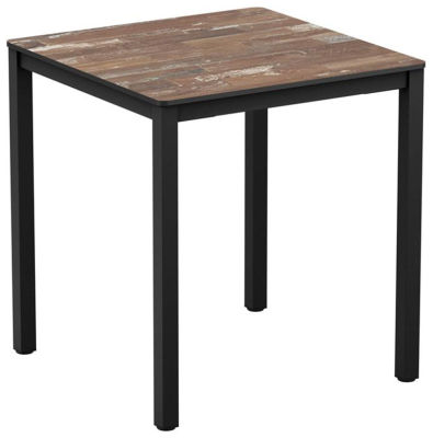 4-leg Planked Vintage Wood Square Dining Table