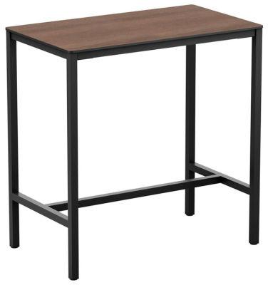 4-leg New Wood Finish Rectangular Poseur Table