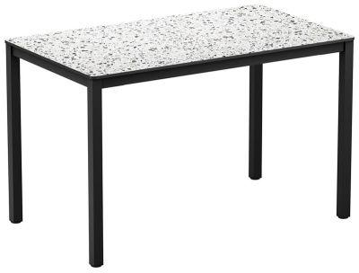 4-leg Mixed Terrazzo Rectangular HPL Dining Table