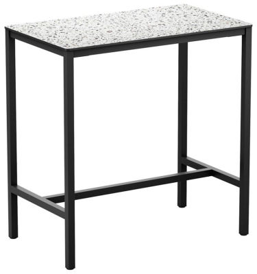 4-leg Mixed Terrazzo Rectangular HPL Poseur Table