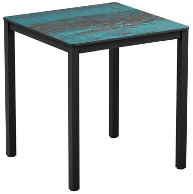 4-leg Vintage Teal Square HPL Dining Table