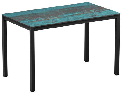 4-leg Vintage Teal Rectangular HPL Dining Table