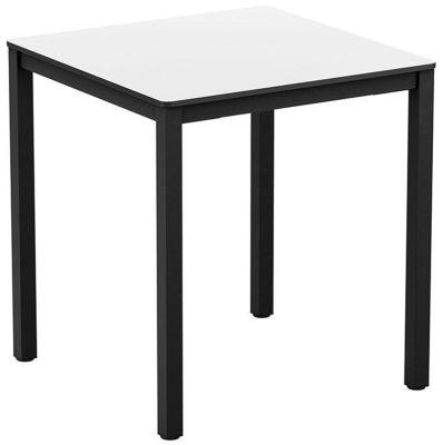 4-leg White Square HPL Dining Table