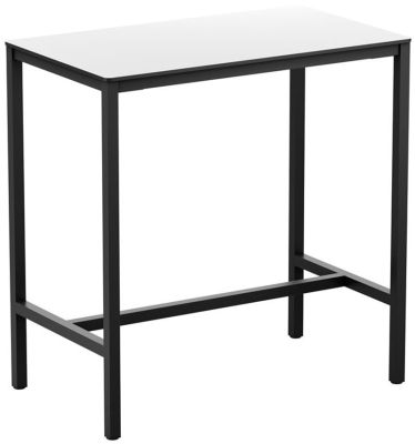 4-leg White Rectangular HPL Poseur Table