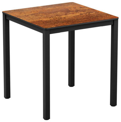 4-leg Textured Copper Square Dining Table