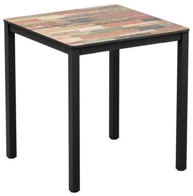 4-leg Reclaimed Beach Hut Square HPL Dining Table