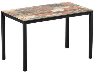 4-leg Reclaimed Beach Hut Rectangular HPL Dining Table