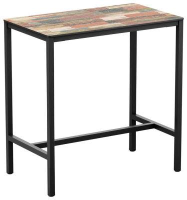 4-leg Reclaimed Beach Hut Rectangular HPL Poseur Table