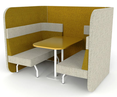 Flexa Antibacterial Vinyl Dining Booth