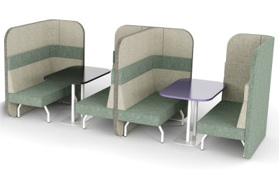 Flexa 8 Person Dining Booth