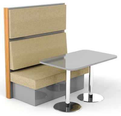 Wave 2 Person Single Seat & Table