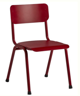 Quigon Stacking Chair RAL Red 3011