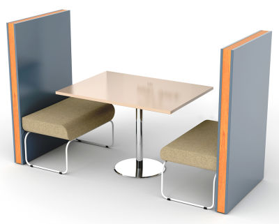 Setta 2 Person Booth Without Back Cushions