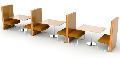Setta 6 Person Dining Booth