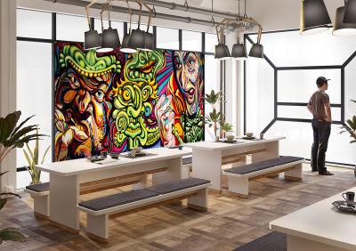 Upholstered Dining Table & Bench Set - Mood Shot