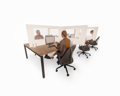 Peart Desk Protective Screen Side People