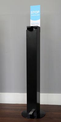 1L Hands-Free Sanitising Station - Black (1)