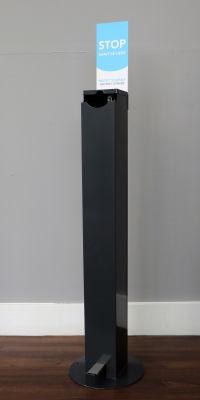 1L Hands-Free Sanitising Station - Grey (1)