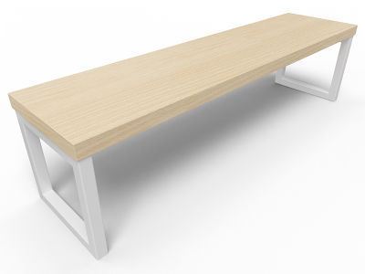 Axim Bench 1600mm - Beech With White Frame