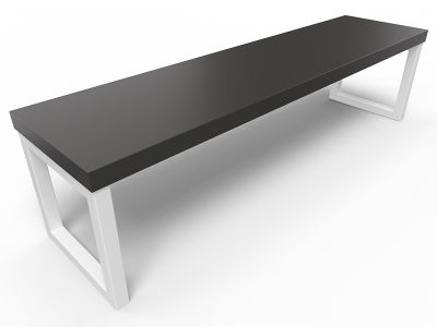 Axim Bench 1600mm - Black With White Frame
