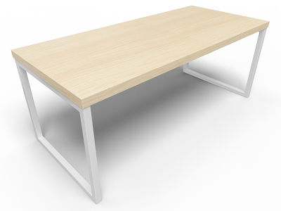 Axim Bench Table 1800mm - Beech With White Frame