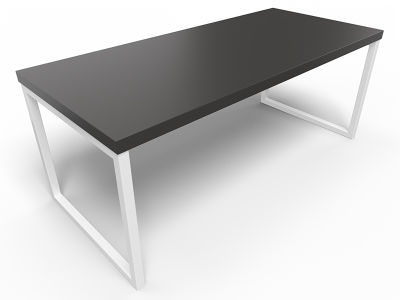 Axim Bench Table 1800mm - Black With White Frame