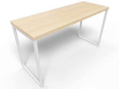 Axim Poseur Table 1900mm - Beech With White Frame