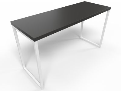 Axim Poseur Table 1900mm - Black With White Frame