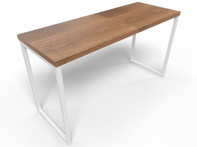 Axim Poseur Table 1900mm - Walnut With White Frame