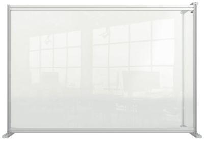Modular Acrylic Desk Divider Screen Extension 3