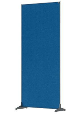 Premium Felt Floorstanding Divider Screen 800mm Blue