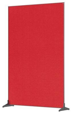 Premium Felt Floorstanding Divider Screen 1200mm Red