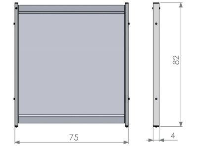 Deluxe PVC Modular Desk Divider Screen Dimensions 2