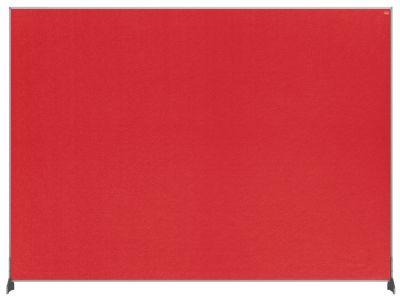 Premium Felt Desk Divider Screen Red