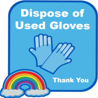 Dispose Of Used Gloves