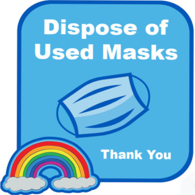 Dispose Of Used Masks