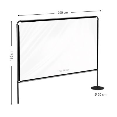 Midway Outdoor Protection Screen Dimensions 2