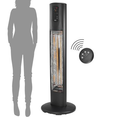 Umbra Standing Heater Remote & Scale On Angle