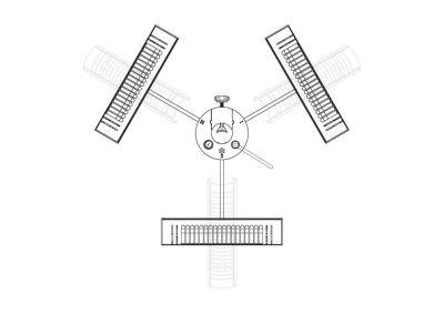 UPH18 Umbra 3kW Parasol Heater Diagram